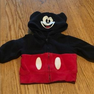 Mickey Mouse hoodie size 6m